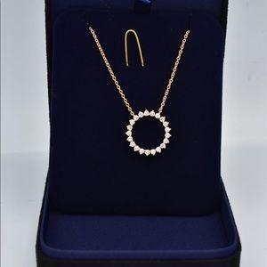 Tiffany open circle pendant size medium